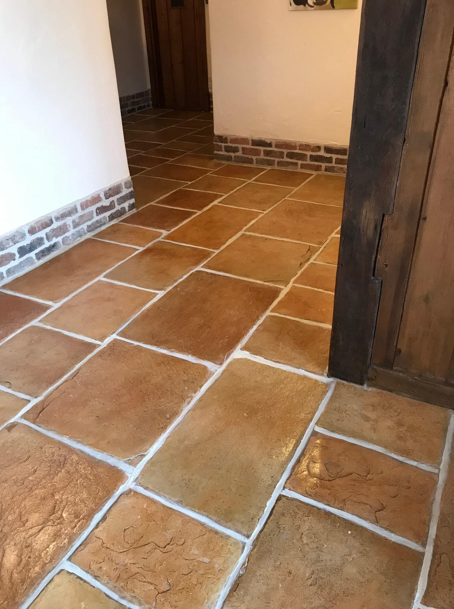 Sandstone Effect Concrete After Cleaning