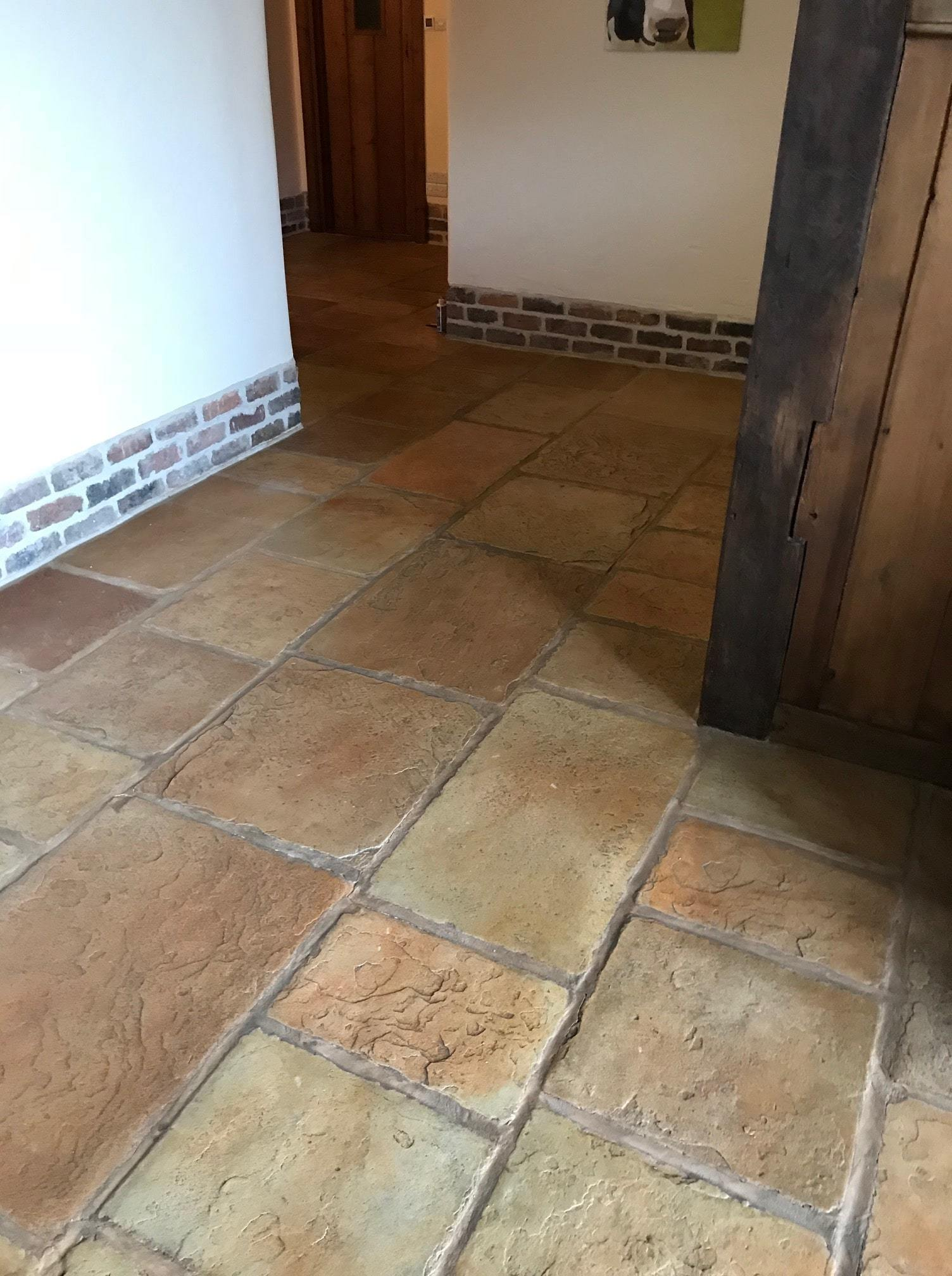 Sandstone Effect Concrete Before Cleaning