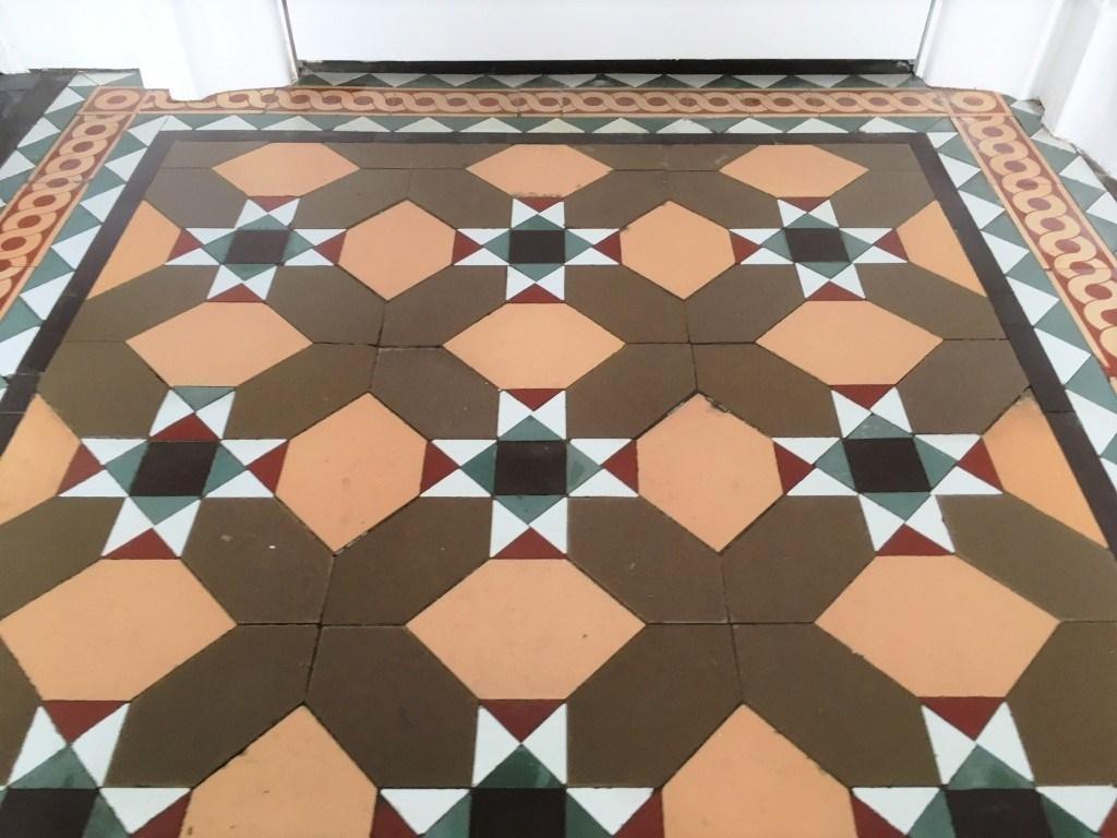 Victorian floor tiles after restoration